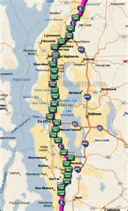 map of i5 california i 5 seattle exit map