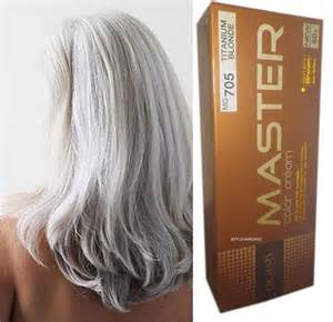 titanium hair color hair colour permanent hair dye silver