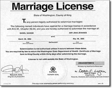 Washington State Marriage Records Marriage May Pave The Way For The Legalization Of