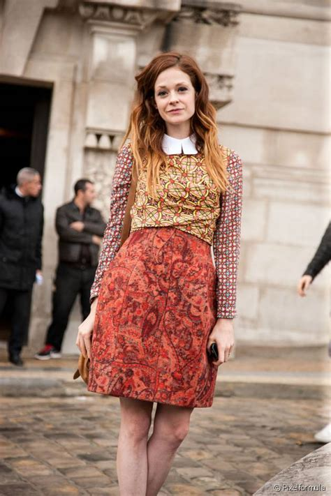 Tie And Dye Sur Cheveux Roux Streetstyle