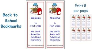 free printable educational bookmarks back to school archives activities for kids