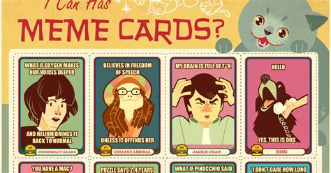 Meme Trading Cards - popped culture i can has meme cards