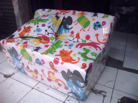 Kasur Bed Biasa sofa bed busa biasa motif animal 90 grosir kasur lipat