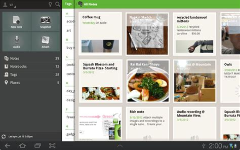 evernote for android evernote for android gets a tablet redesign swipe navigation and more