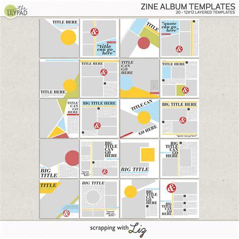 zine template digital scrapbook template zine album templates