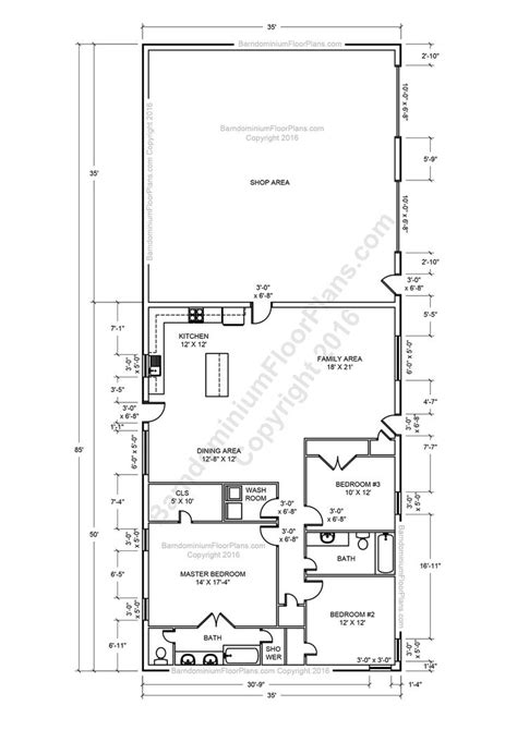 Pole Barn Floor Plans by Barndominium Floor Plans Pole Barn House Plans And Metal