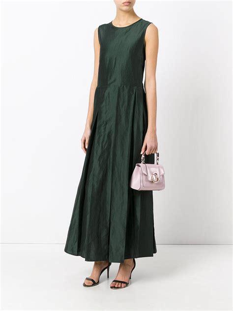Maxi Maxmara Batik lyst max mara pleated maxi dress in green