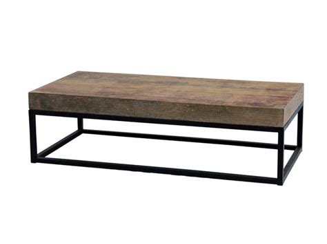 industrial coffee table with metal base custom furniture
