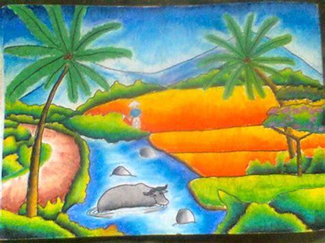 sabira kaitou contoh lukisan bertema keindahan alam