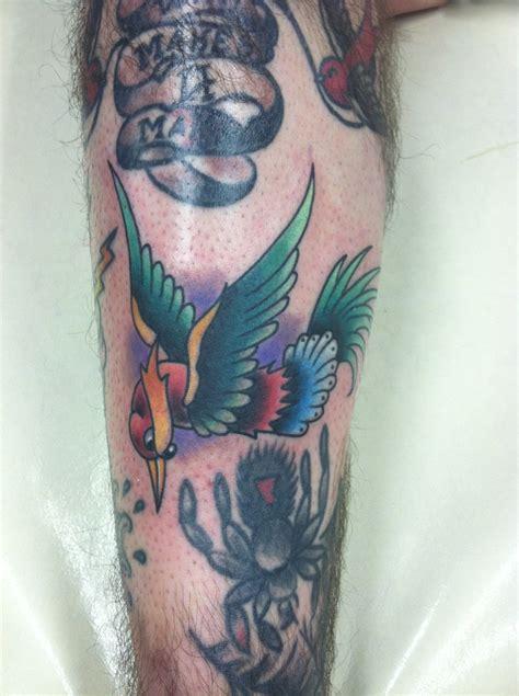 traditional tattoo phoenix az traditional phoenix style bird david meek true til death