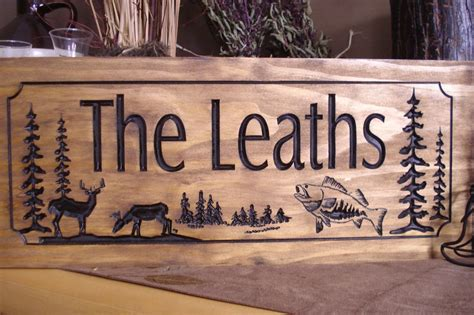 decorative name signs how to make decorative things wood carved ranch cabin