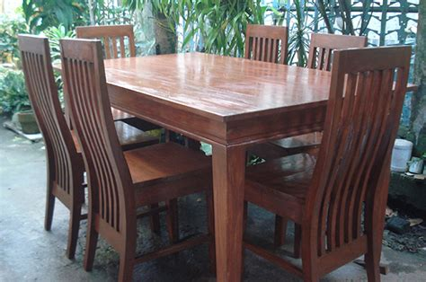 mahogany dining table philippines ging s six seater
