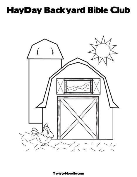 backyard bible club ideas hayday backyard bible club coloring page from twistynoodle com barnyard party