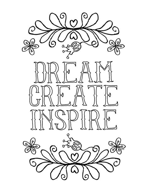 live your dreams an coloring book with inspirational quotes and adorable kawaii drawings books inspirational coloring page live laugh rowe