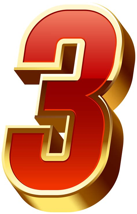 number  gold red transparent image gallery
