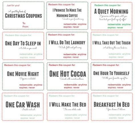 Love Coupons For Him Template – Dirty love coupons for boyfriend