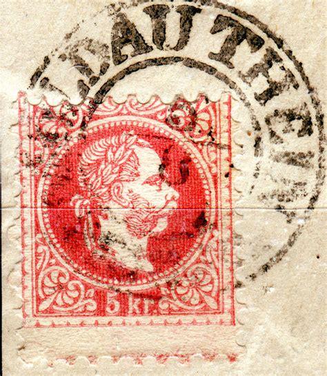Rutsch Und Rutsch 5258 by Freimarken Ausgabe 1867 Kopfbildnis Kaiser Franz Joseph