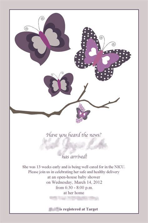 Baby Shower Butterfly Invitations For Cheap by Purple Butterfly Baby Shower Invitations Cimvitation