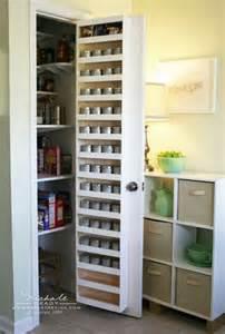 Storage Pantry With Doors The Door Spice Rack Get Organised
