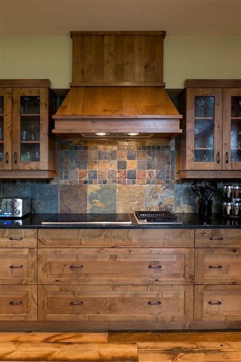 traditional backsplashes for kitchens slate tile backsplash kitchen traditional with alder alder