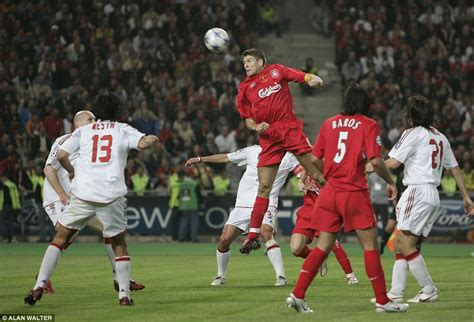 carvil a4 milan db steven gerrard to leave liverpool his career in 50