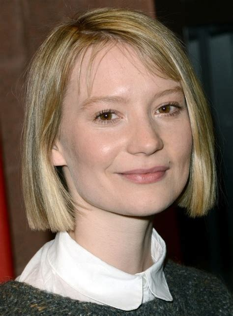 short blunt haircut pictures 2014 mia wasikowska s short hairstyles blonde blunt bob