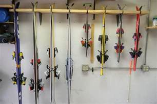 make your own garage ski rack for cheap bring the