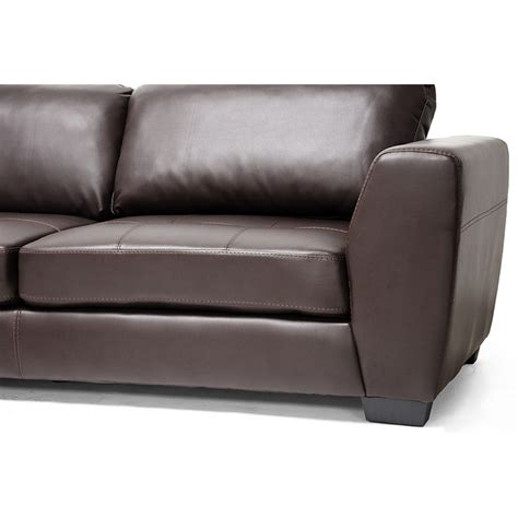 sectional sofas wi orland sectional sofa brown leather left facing