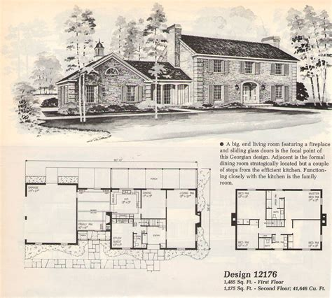 old house blueprints old house plans dutch colonial revival traditional kit