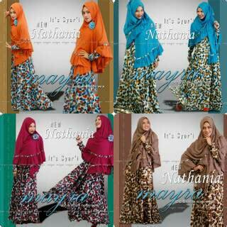 Fashion Muslimah Branded Set Dress Dan Khimar Yumna Mocca Muda koleksi baju dress dan busana muslim terkini gamis set