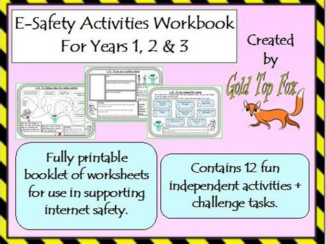 e safety activities workbook safety for years 1