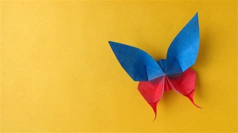 Paper Origami Butterfly - origami butterfly mariposa updated version paper play