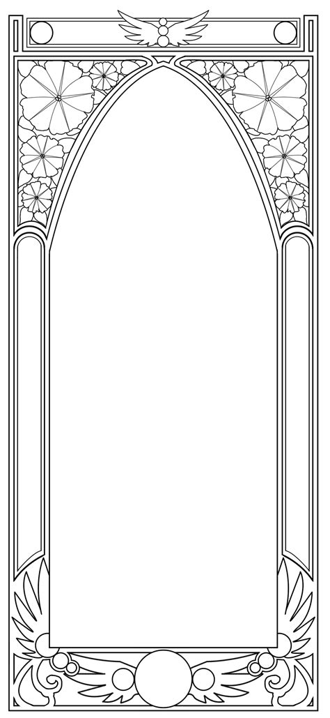 printable art deco borders free art nouveau border by bisnarkian on deviantart