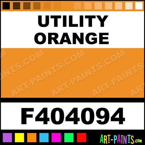 paint colors for utilities utility orange model metal paints and metallic paints