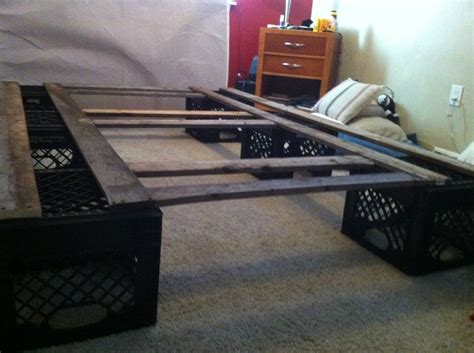 Milk Crate Bed Frame Milk Crate Bedframe Decor