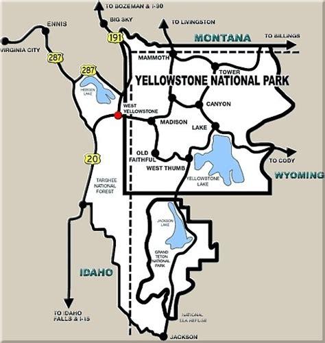 yellowstone lodging map west yellowstone map laminatoff