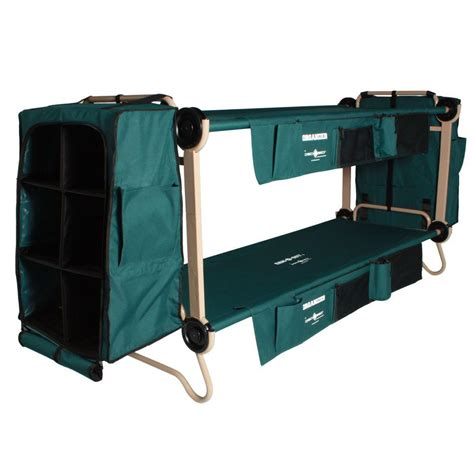 disc bed disc o bed 32 in green bunkable beds with leg extensions