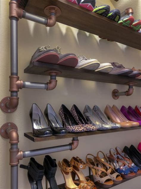 wall shoe rack diy diy industrial galvanized pipe shoe rack ideas diy