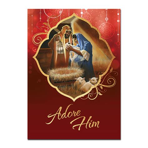 adore him african american christmas cards