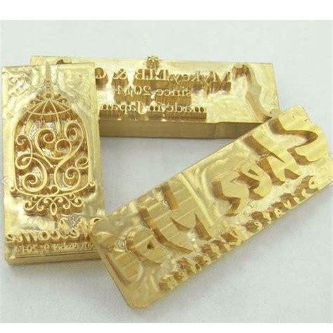 brass hot foil stamping die rs  piece latika die