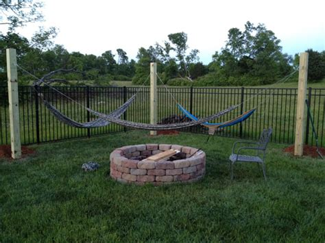 hanging a hammock in back yard