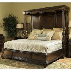 Canopy California King Bedroom Set Chateau Marmont Pecan Brown Cal King Canopy Bed