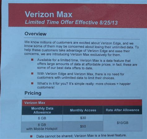 verizon max plan to offer 6gb for 30 to wean unlimited