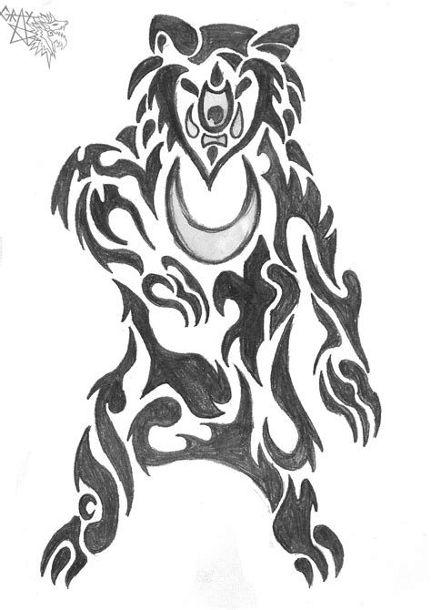 tribal bear tattoo design ideas for lawas