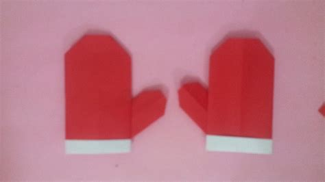 How To Make Origami Gloves - origami glove paper glove paper how to make glove
