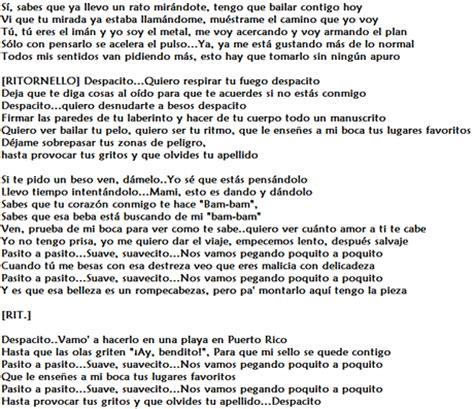 testo e traduzione and despacito significato e traduzione testo il brano di