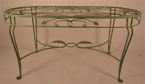 Oval Wrought Iron Patio Table Salterini Wrought Iron Oval Dining Table At 1stdibs