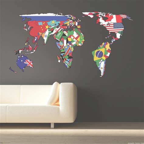 collection  wall art stickers world map