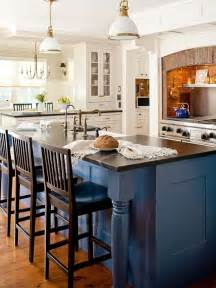 modern furniture decorating design ideas 2012 with blue color using different color cabinets in island