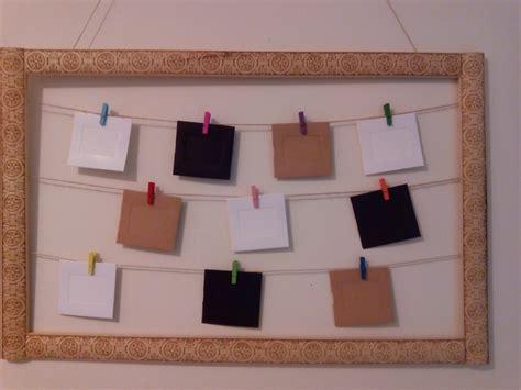 como hacer un cuadro de fotos 191 c 243 mo hacer un marco de fotos con un list 243 n y cuerda